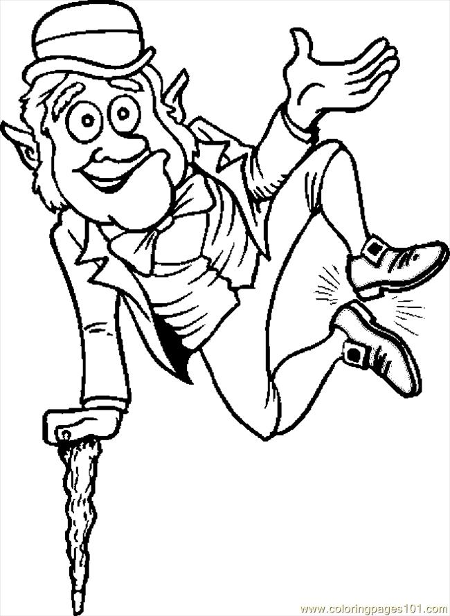 Coloring Pages Leprechaun Jumping Holidays gt St Patrick