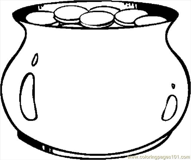 Coloring Pages Pot Of Gold 25 (Holidays > St. Patrick's ...