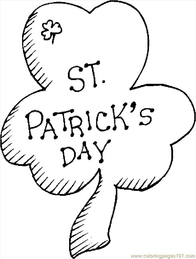 st patricks day shamrock coloring pages | Coloring Pages Shamrock 23 (Holidays > St. Patrick's Day ...