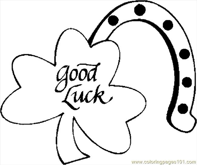 Coloring Pages Shamrock Good Luck Holidays Gt St Patrick Luck Coloring Pages