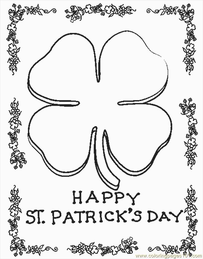 st patrick 39 s day shamrock coloring pages