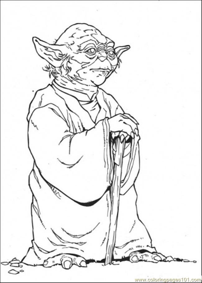 Coloring Pages Master Yoda 2 Cartoons