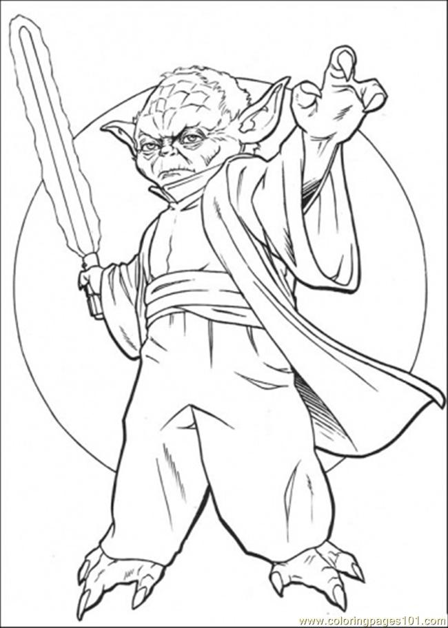 Coloring Pages Master Yoda 4 (Cartoons > Star Wars)