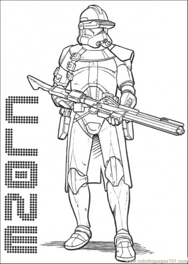 free star wars character coloring pages | Coloring Pages Star Wars Character 3 (Cartoons > Star Wars ...