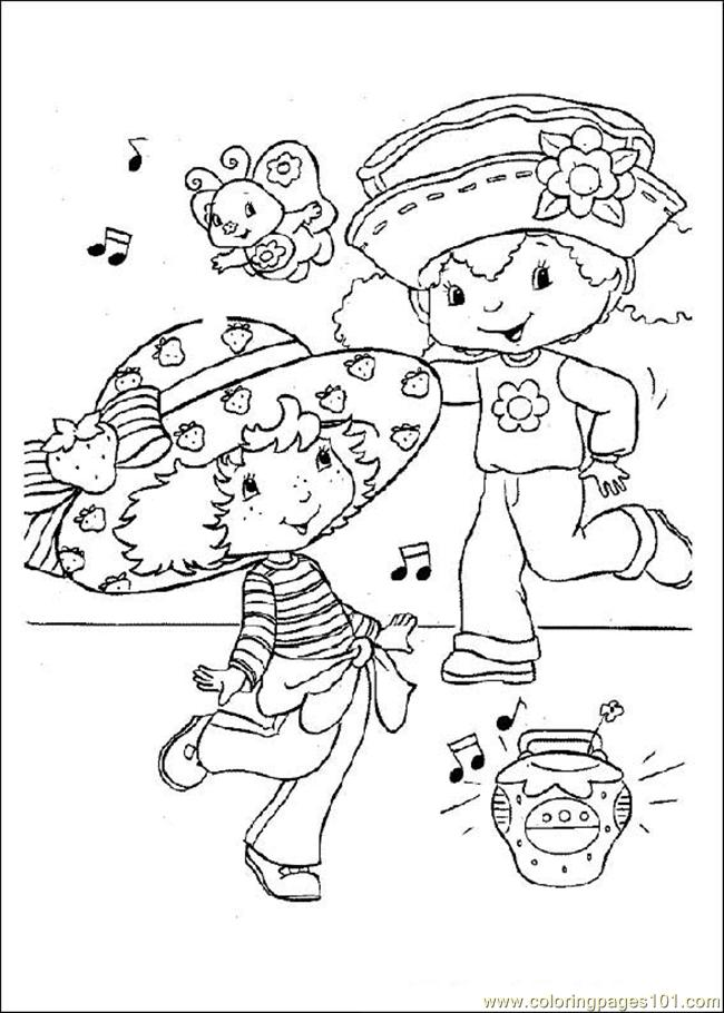 online strawberry shortcake coloring pages - photo#26