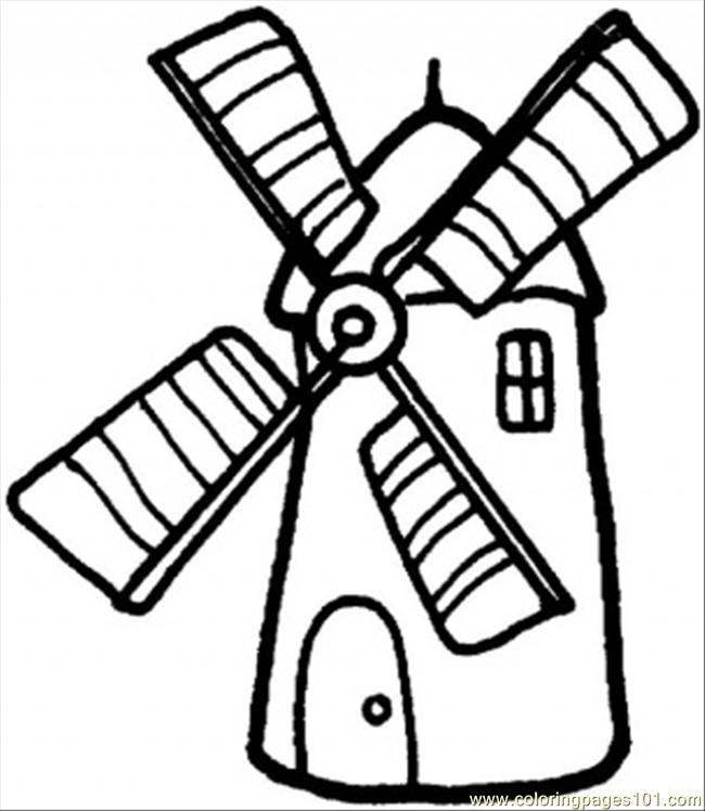 Coloring Pages Windmill Architecture Gt Structures
