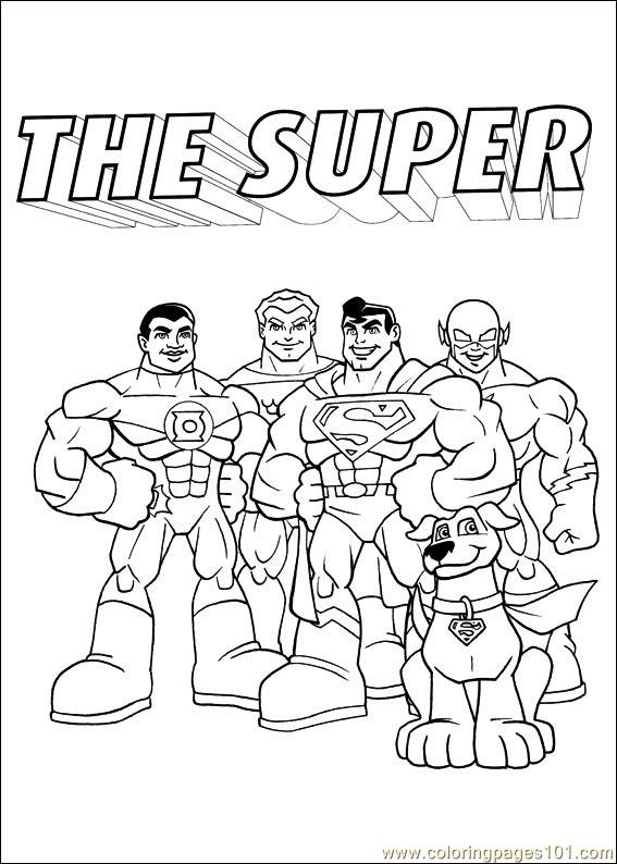Dc Super Friends Coloring Pages Coloring Pages