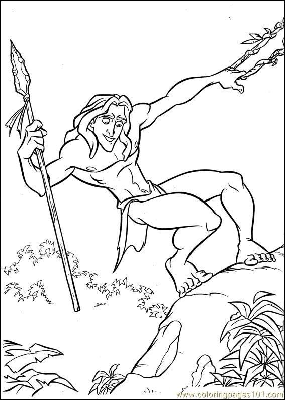Coloring Pages Tarzan 63 Cartoons