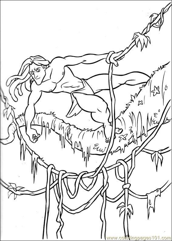 Coloring Pages Tarzan 64 Cartoons