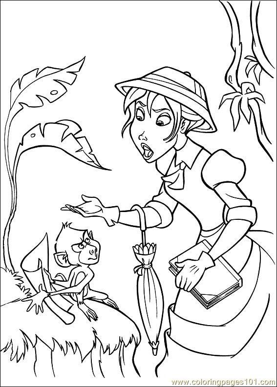 Coloring Pages Tarzan 71 Cartoons