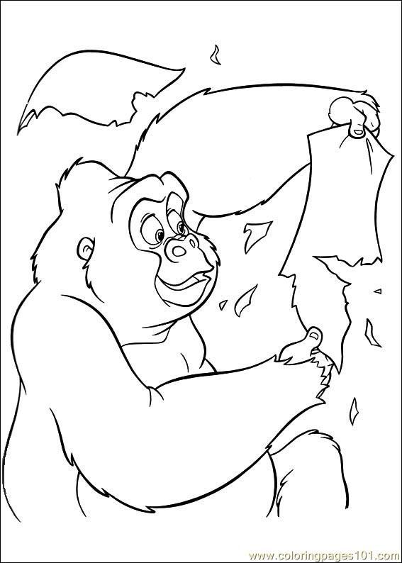 Coloring Pages Tarzan 78 Cartoons
