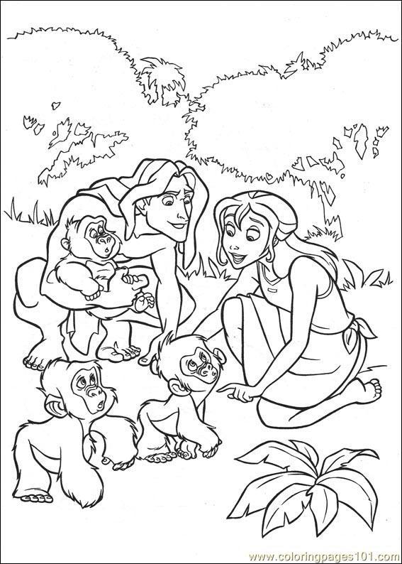 Coloring Pages Tarzan 94 Cartoons
