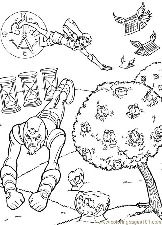 titans tower colouring pages