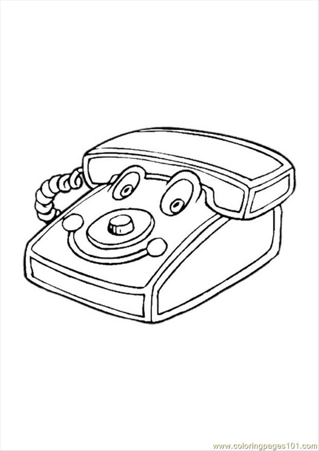 telephone coloring pages - photo#28