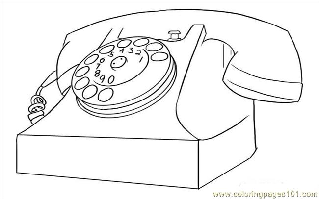 free coloring pages of phone