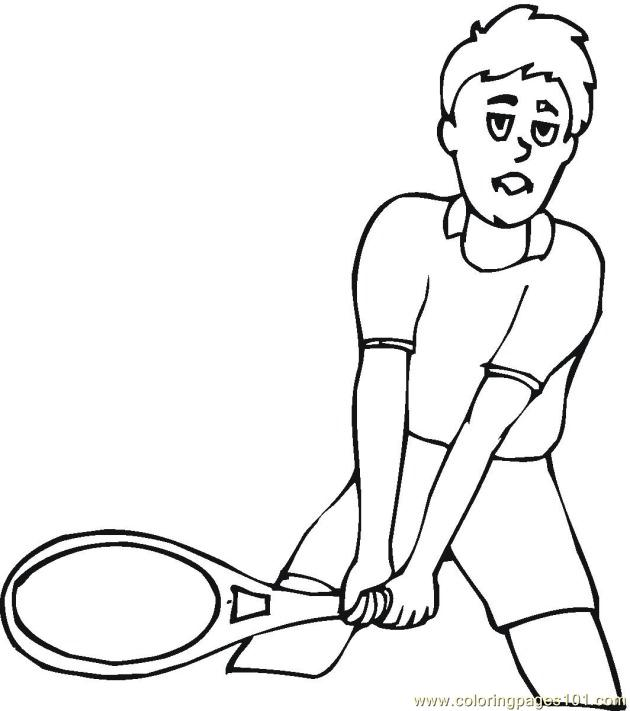 Free table tennis coloring pages