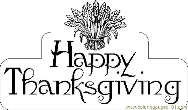 Thanksgiving Happy Pages Card Coloring Coloring Pages