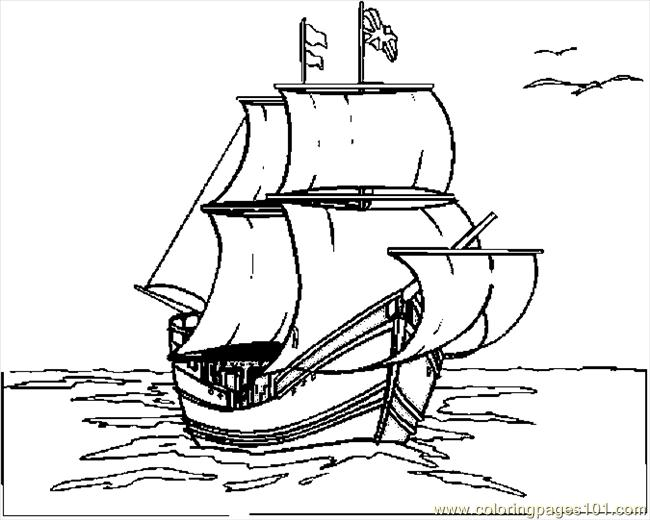 Free Printable Mayflower Coloring