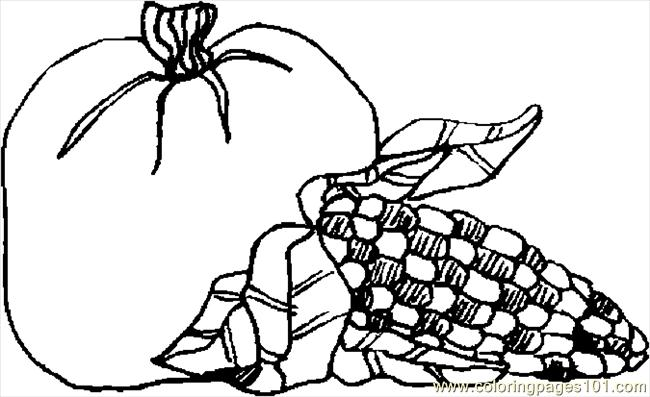 corn stalks coloring pages - photo#19