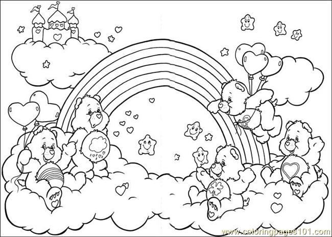 care bear coloring pages christmas - photo#38