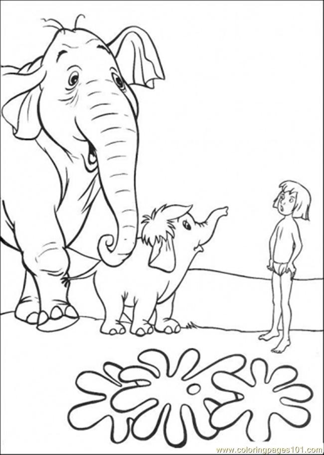 Jungle Book Coloring Pages Pdf : Coloring pages mowgli with hathi cartoons gt the jungle