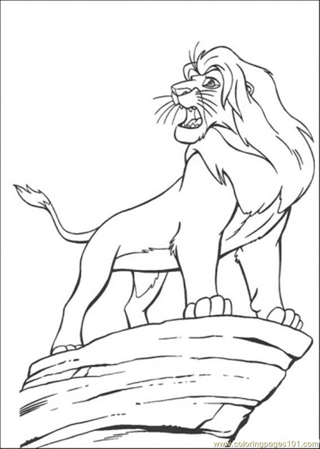 Coloring Pages Simba (Cartoons > The Lion King) - free ...