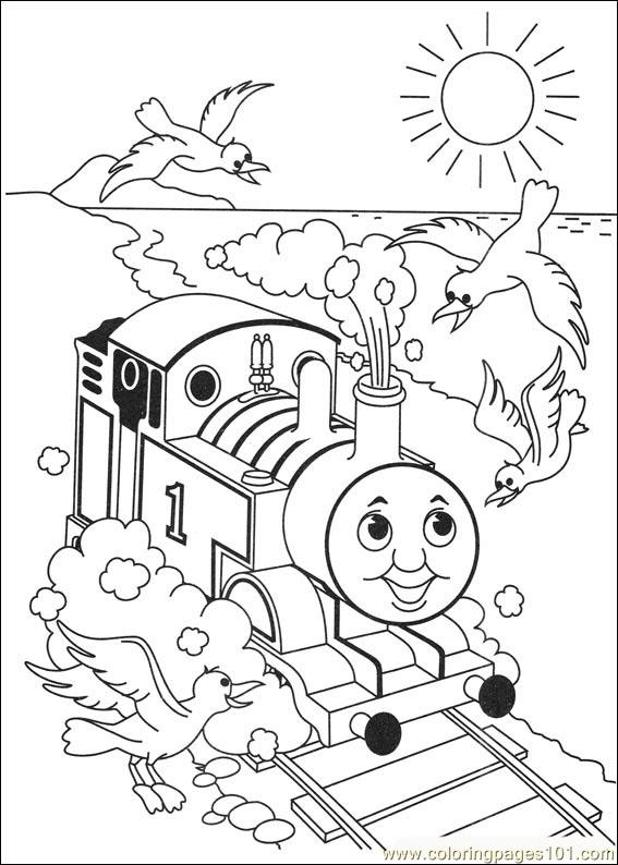 Thomas the train engine color pages thomas free engine for Thomas printable coloring pages