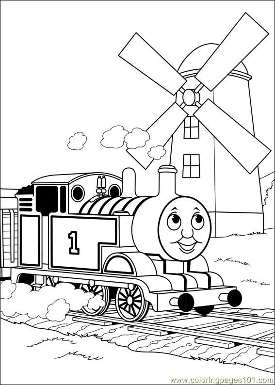 free coloring pages of thomas