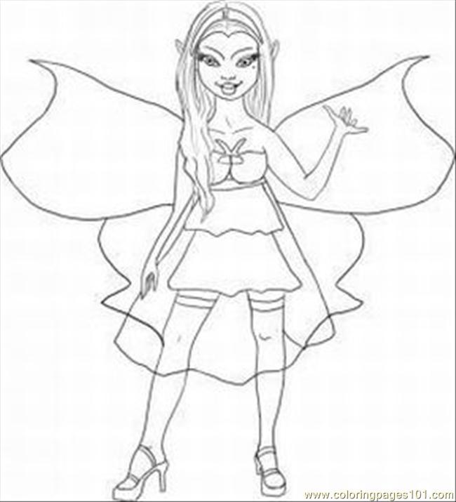 punk tinkerbell coloring pages - photo#14