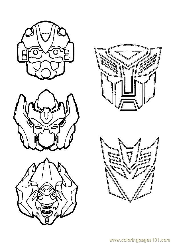 Coloring Pages Transformers 015 Cartoons Gt Transformers