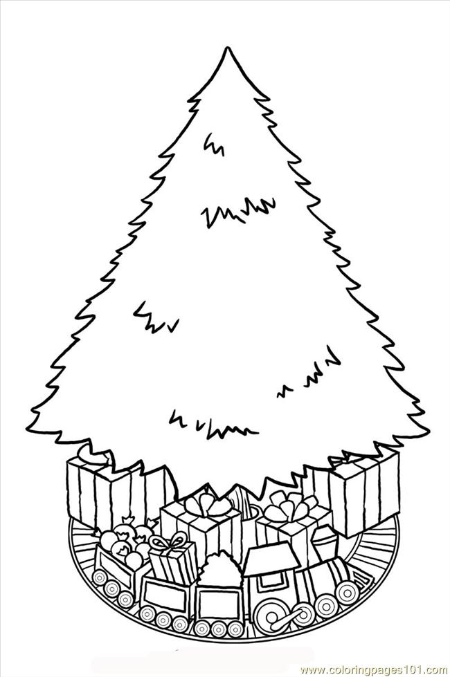 Coloring Pages Christmastree Big Natural World Gt Trees