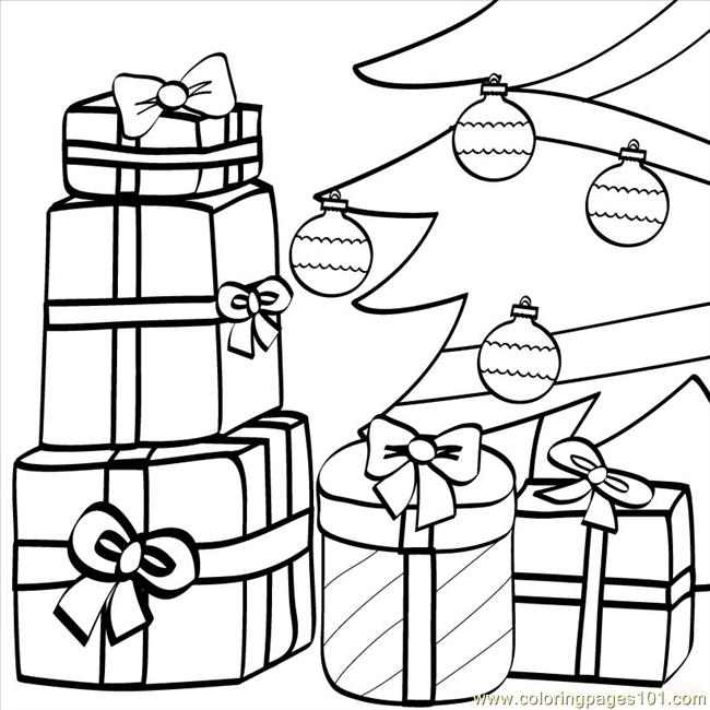 Coloring Pages Christmas Gifts Source 720 Natural World