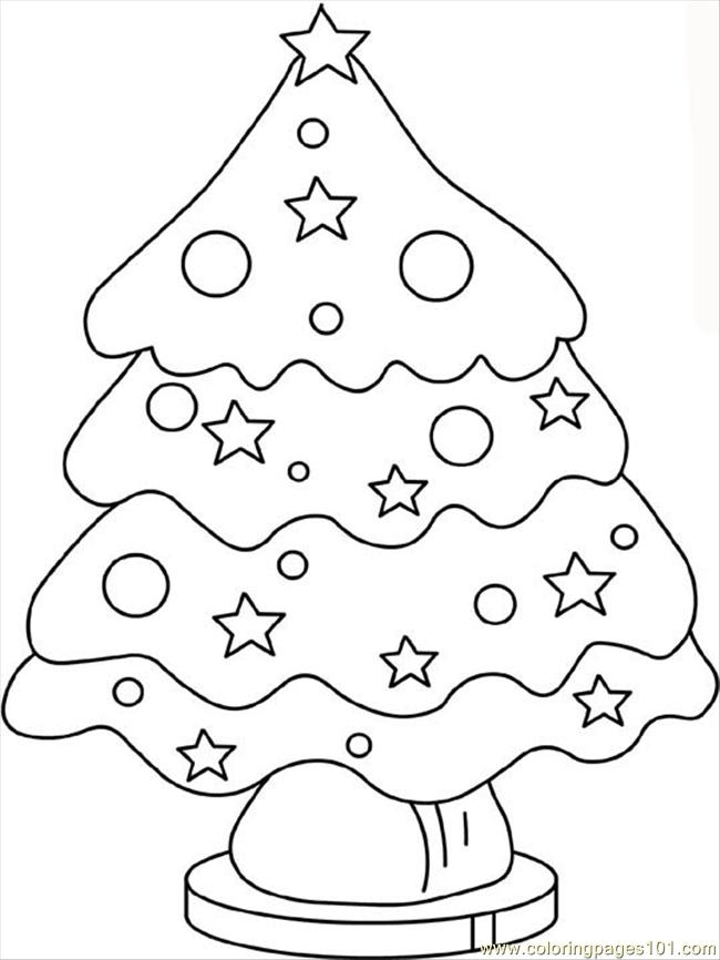 Coloring Pages Christmas Tree2 Natural World Gt Trees