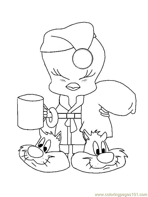 Coloring Pages Tweety Bird 04 Cartoons Gt Tweety Bird