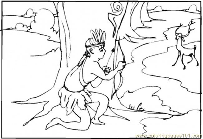 free printable coloring page Hunting For The Deer (Countries > USA)