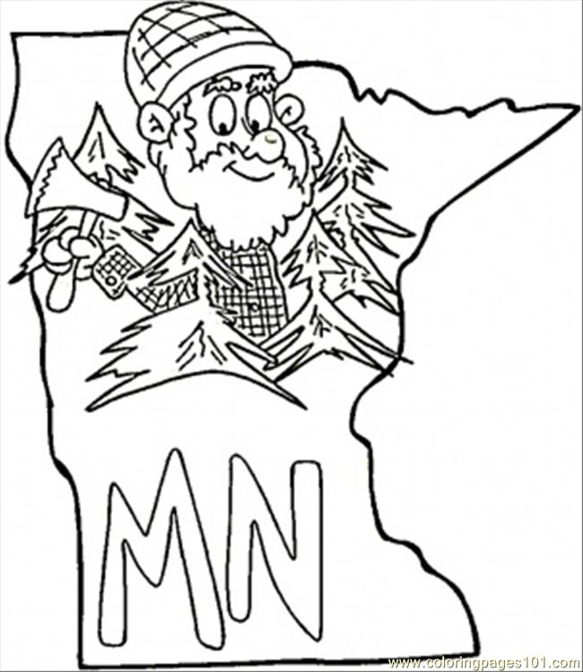 Free coloring pages of minnesota for Minnesota state flag coloring page