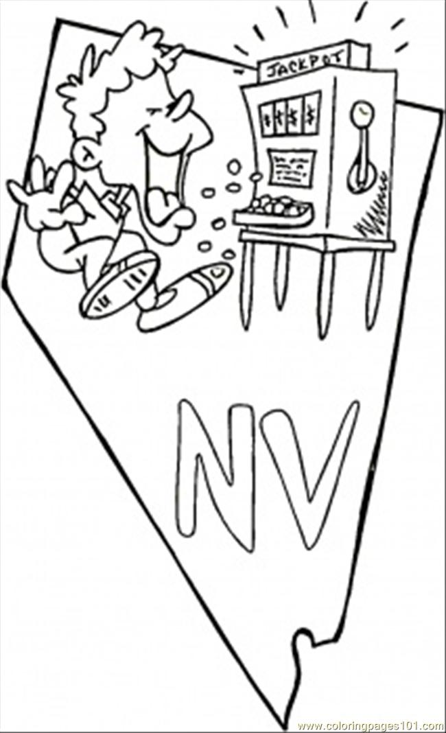 nevada state coloring pages - photo#18