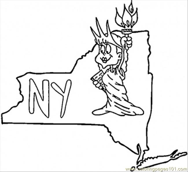 coloring pages new york state countries usa free