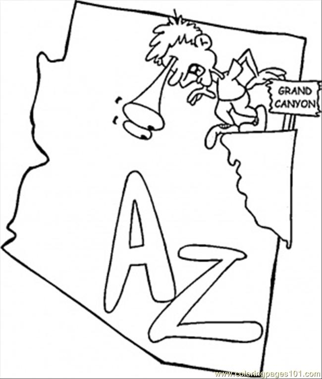 coloring pages of arizona - photo#14