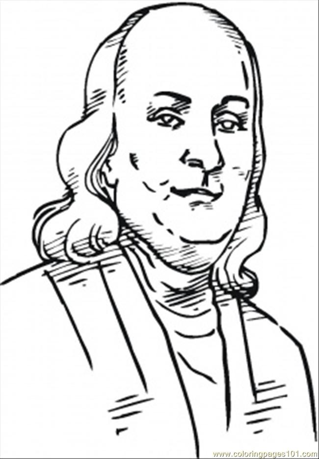 Coloring Pages Benjamin Franklin