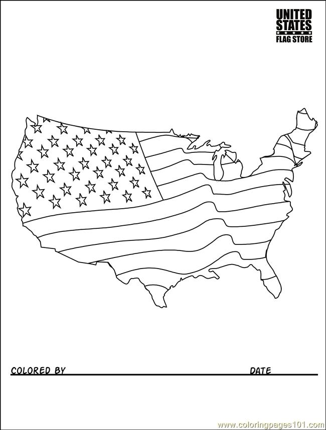 Usa Flag Coloring Usa Flag Coloring Pages