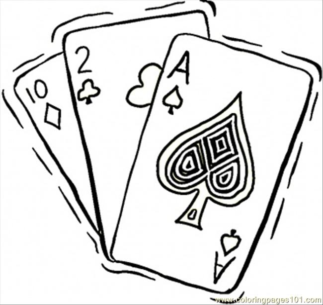 coloring pages of casino - photo#1