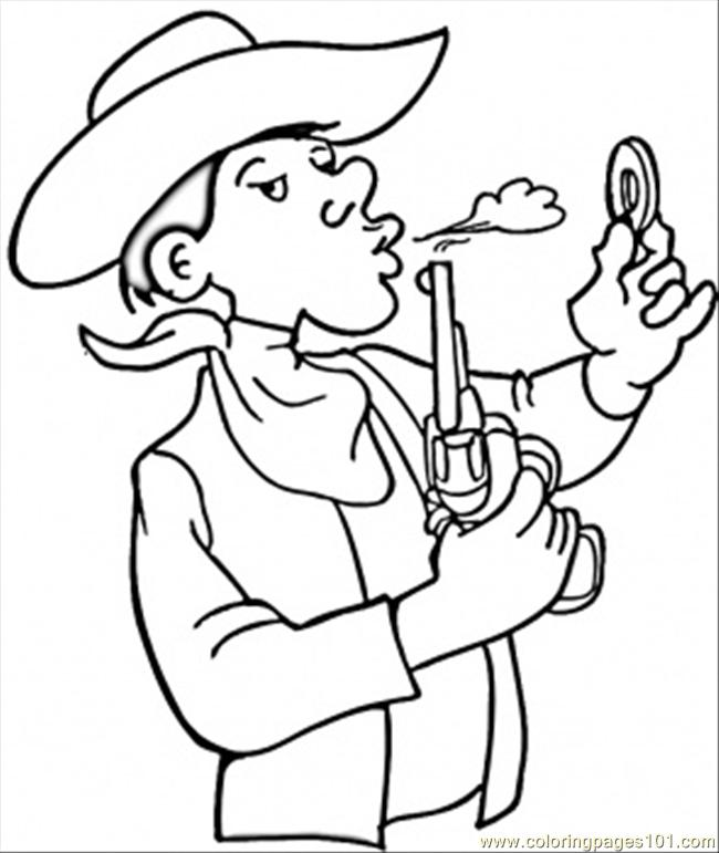 Coloring Pages Cowboy Countries Gt Usa Free Printable