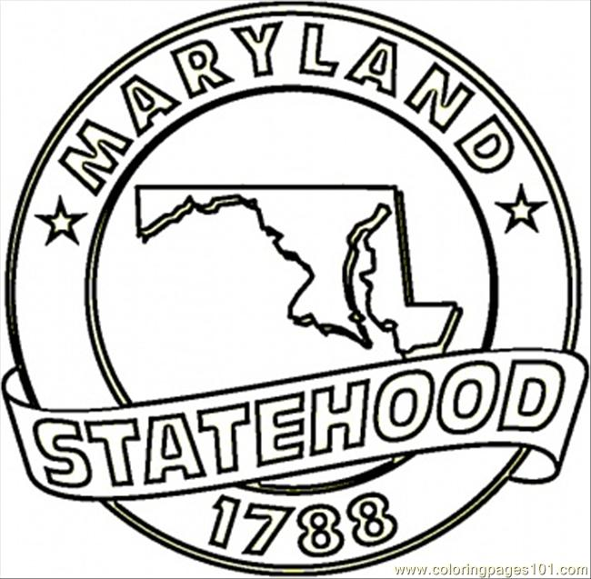 Maryland State Bird Coloring Page Coloring Pages Maryland Coloring Pages