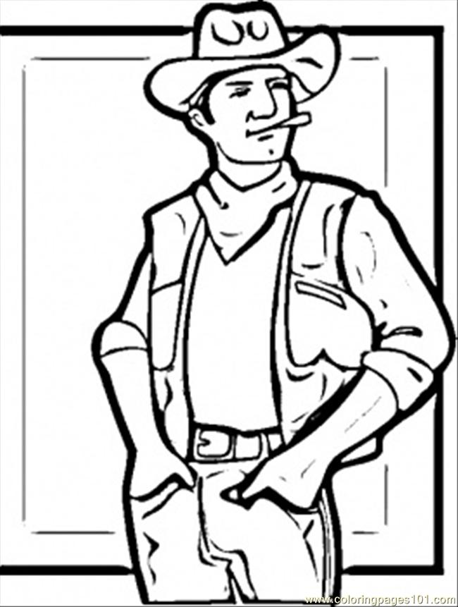 Coloring pages western man countries usa free for Western coloring pages printable