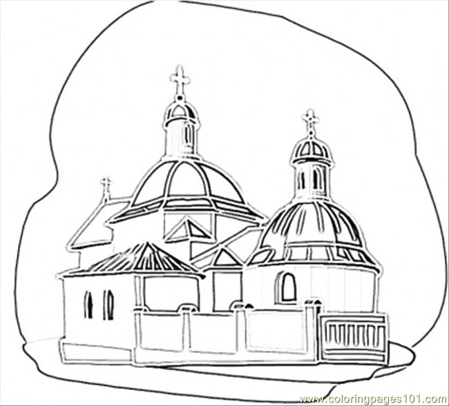 Coloring Pages Church In Kiev Countries Gt Ukraine Free Ukrainian Coloring Pages