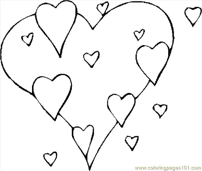 Free Coloring Pages Of Valentine Hearts