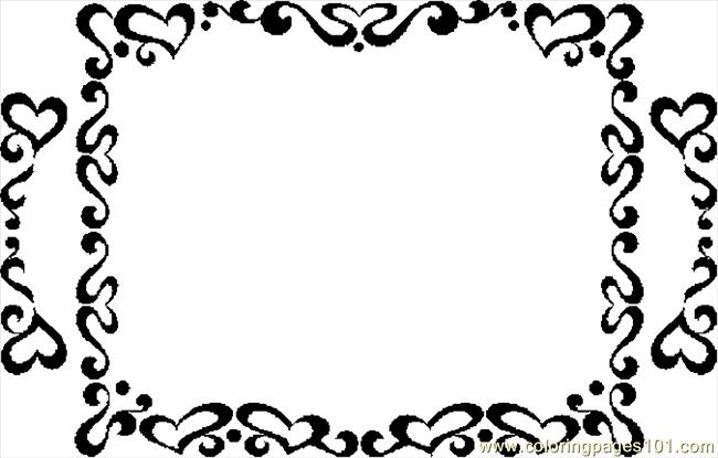 love frames Colouring Pages