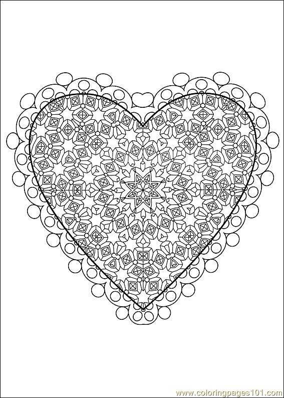 Coloring Pages Valentine Daycoloring 38 (Holidays > Valentine