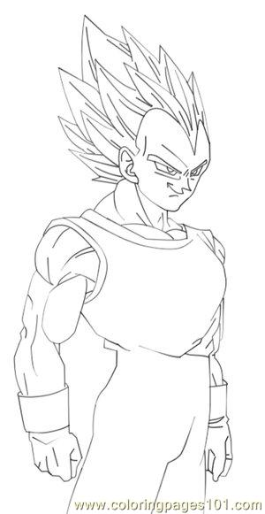 God vegeta free colouring pages for Vegeta coloring pages